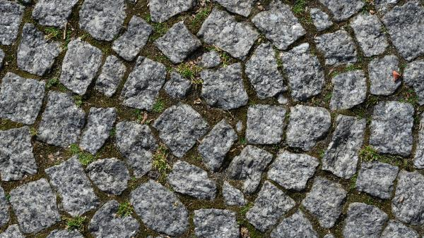 Radial cobblestone surface