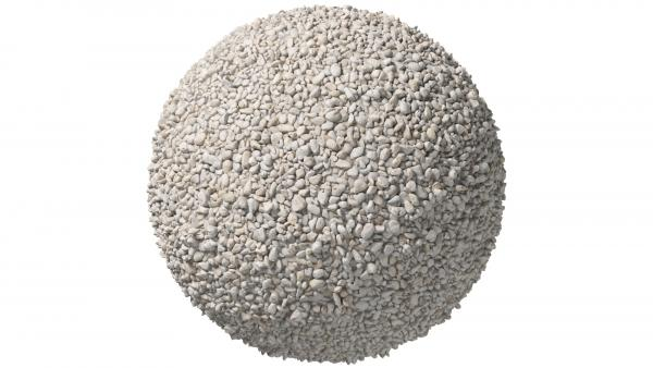 White pebbles stones ground texture