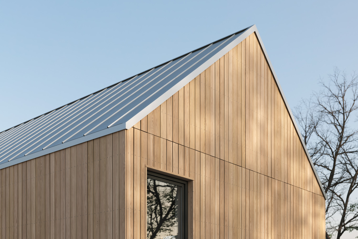 Larch cladding texture